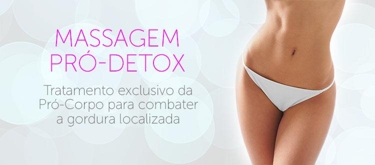 Massagem Pró-Detox na Pró-Corpo