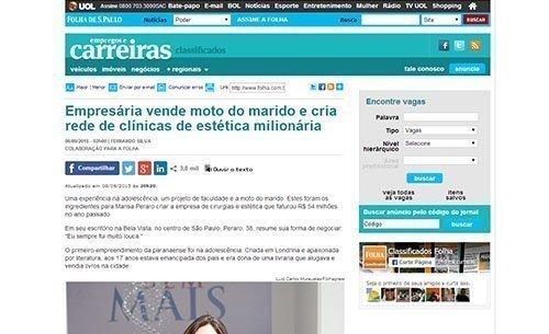 Pró-Corpo na Folha de S.Paulo