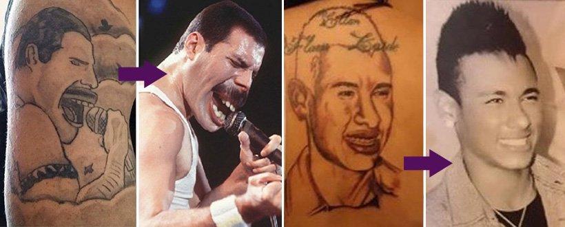 15 fãs que tatuaram seus ídolos e se arrependeram