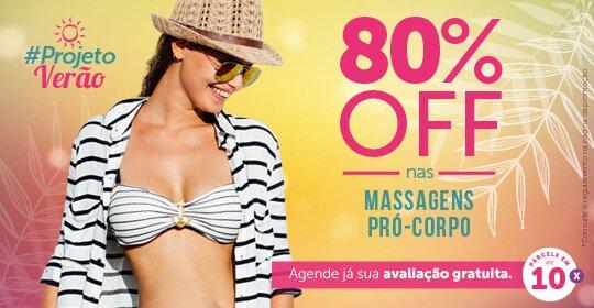 Projeto Verão: 80% OFF nas Massagens Pró-Corpo